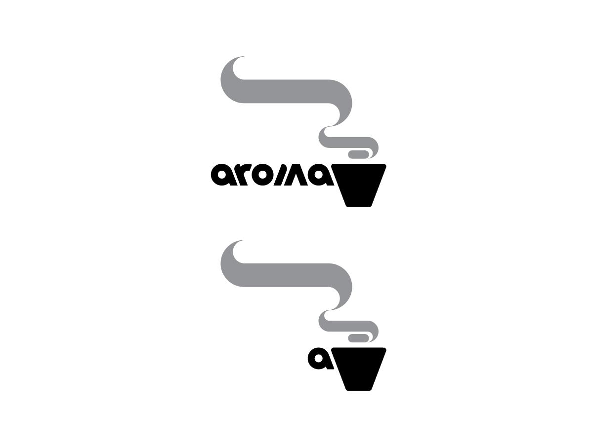 Aroma logo design in Illustrator adobe illustrator design logo cup coffee aroma