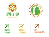 Lively Up Kombucha Branding