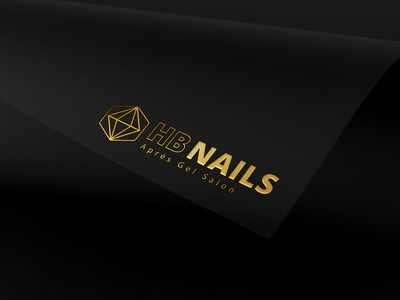 HB NAILS Logo small business local business independant branding logo design vector logo graphicdesign