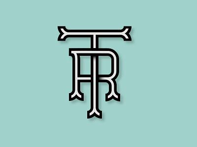 TR Monogram logotype type wordmark logo graphic design monogram