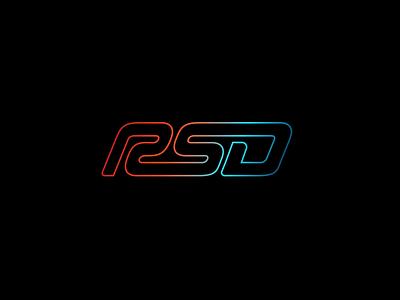 RSD LOGO gradient logo gradient motorsports motorsport cars independant vector logo design logo
