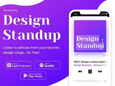 Introducing Design Standup websitedesigner designinspiration graphicdesign uiux appdesign app voicedesign interface userexperience interaction motion designstanduppodcast tech digitaldesign designer webdesign uxdesign ux podcast design