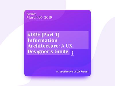Design Standup: Episode  0️⃣1️⃣9️⃣ graphicdesign uiux appdesign app voicedesign interface userexperience interaction motion designstanduppodcast tech digitaldesign designer webdesign uxdesign ux podcast design