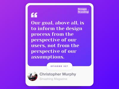 Design Standup: Episode  0️⃣2️⃣7️⃣