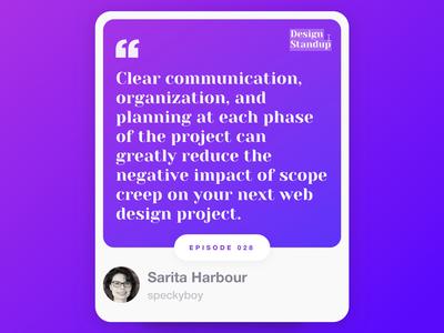 Design Standup: Episode  0️⃣2️⃣8️⃣