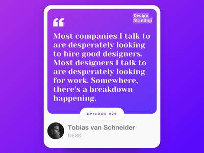 Design Standup: Episode  0️⃣2️⃣9️⃣
