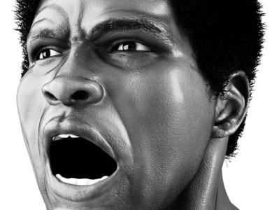 Muhammad Ali - G.O,A.T black  white photoshop vector 3d illustration web design web site design branding goat ali boxing