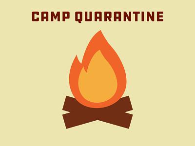 Camp Quarantine badgedesign branding vector icon logo badge illustration design graphicdesign quarantine
