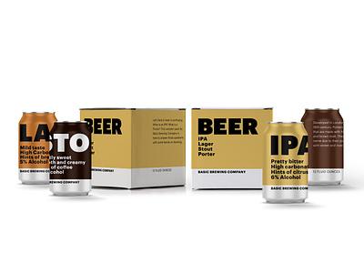 Basic Brewing brand identity beercan beer branding brand logo typography graphicdesign design
