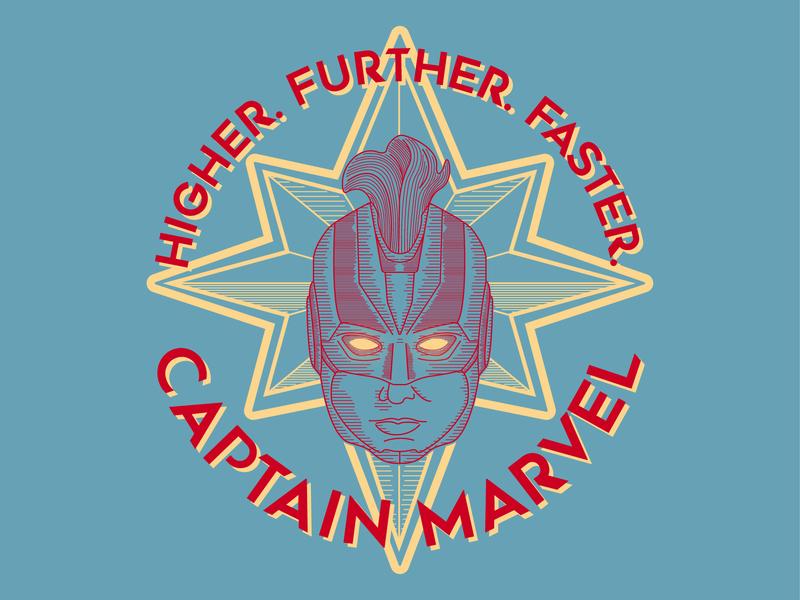Captain Marvel portrait graphicdesign linework captainmarvel marvel superhero logo icon vector illustration etching typography design badgedesign badge