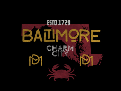 Baltimore ipadpro handdonetype handdone flatdesign design maryland baltimore icon badgedesign badge typography handlettering illustration graphicdesign procreate