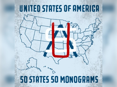 50 States 50 Monograms handlettering lettering ipadpro icon logo badgedesign badge illustration typography graphicdesign design