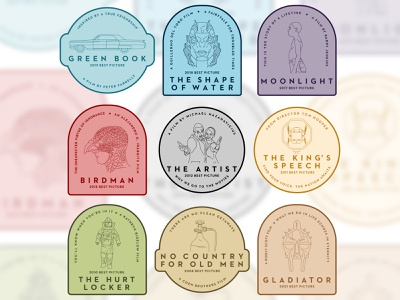 Daily Best Picture Badges vector linework icon logo badgedesign badge typography illustration graphicdesign design
