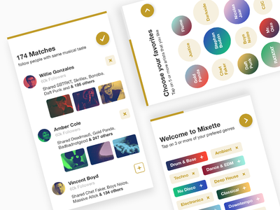 Mixette - Onboarding
