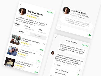 Fiverr - Seller Profile & Conversation