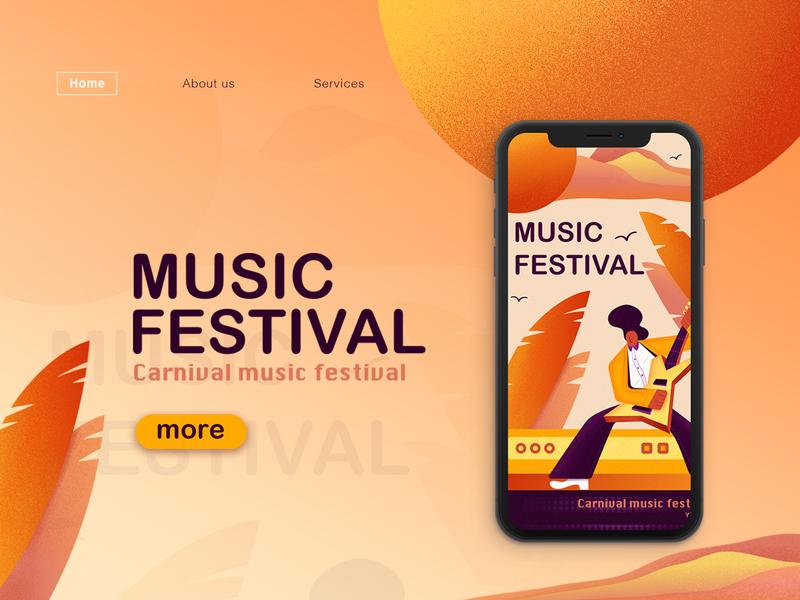 Music Festival web illuatration music festival