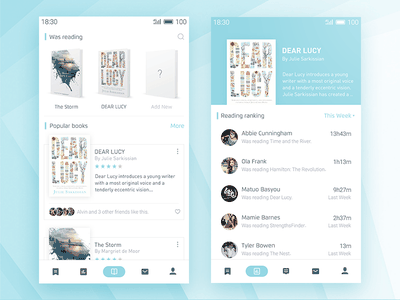 Weread redesign card detail interface ux app clean book redesign wechat read ui