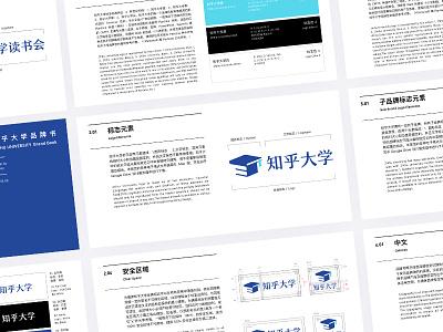 Zhihu KM VI logotype identity icon branding vi color logo university zhihu mark