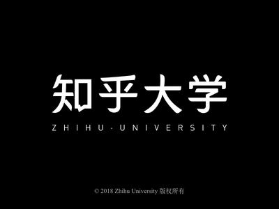 Zhihu University Logotype typography package simple font flat style shape logo icon zhihu grid brand