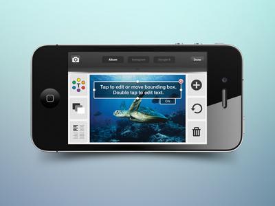 Mobile UI for Stitch (edit slide)