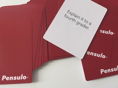 Pensulo Card Deck strategy playing cards abstract creative card deck cards