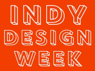 Indianapolis Design Week 2018 indianapolis design week logo wordmark