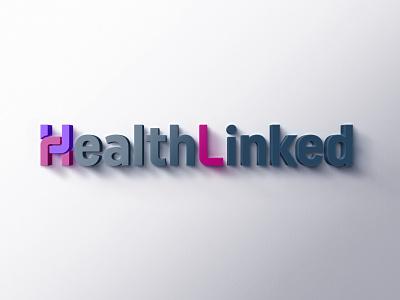 HealthLinked branding logo mockup photoshop brandidentity wordmark logotypedesign logotype health brand identity brand design branding