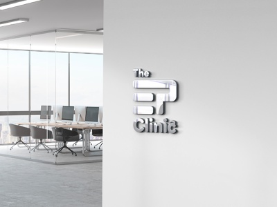 The EP Clinic branding photoshop manipulation photo manipulation brand and identity brand designer logo mockup logo presentation logo design logo brand design brand identity branding