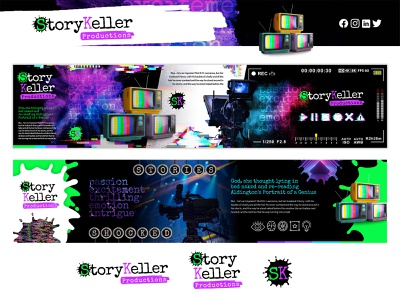 StoryKeller Productions brand identity visualidentity visual identity photoshop collage stylescapes stylescape logo design brand design brand identity branding