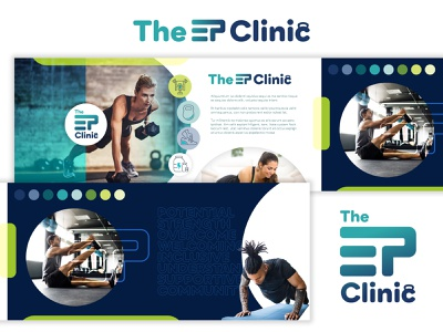The Ep Clinic brand identity visual brand identity fitness logo fitnesslogo exercisebrand exercisebranding fitnessbranding fitness branding exercise stylescapes stylescape collage manipulation brand design brand identity branding
