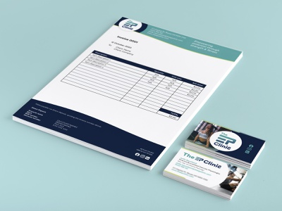 The EP Clinic corporate stationery design exercise brand fitness brand fitness branding exercise branding corporate branding branding brand identity design brand design brand identity corporate id stationery design corporate stationery