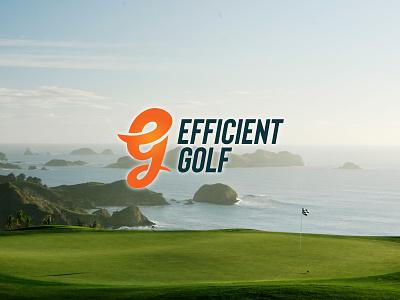Efficient Golf branding brand design golfing golf logo golfer golf branding golf logo logo design brand identity branding