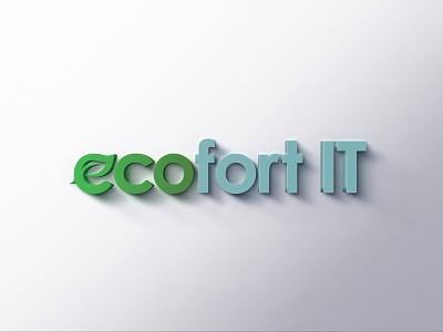 Ecofort IT branding it brand logo it branding it logo design it logo it company loog photoshop collage logo design logo brand design brand identity branding