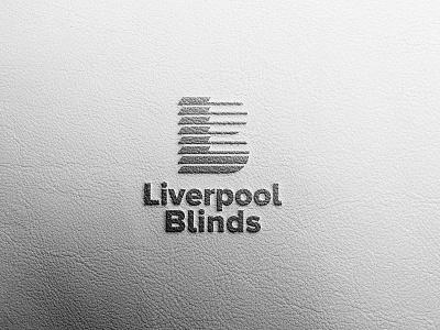 Liverpool Blinds logo leather design leather logo leather texture logo mockup brand mockup brand identity logo design logo branding