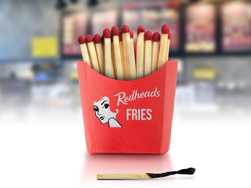 Fire Fries manipulation diner restaurant fire burnt hungry food chips matchsticks matches red redheads fast food fries