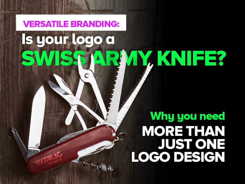 Is your logo a swiss army knife? fluoro advertising swiss army knife knife brand versatility brand variety logo brand design versatile versatility logo design branding