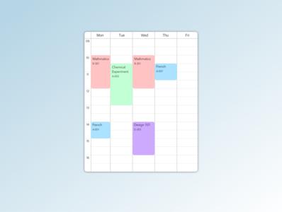 Daily UI practice - 071 Schedule