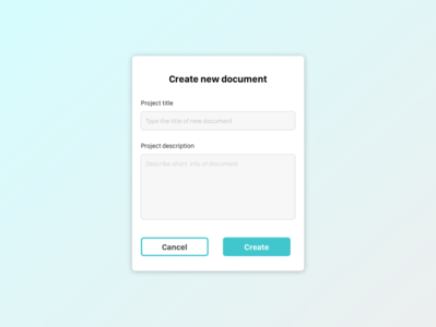 Daily UI practice - 090 Create new