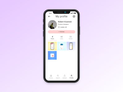 Daily UI practice - 006 profile