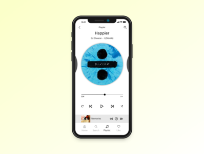 Daily UI practice - 009 Music player