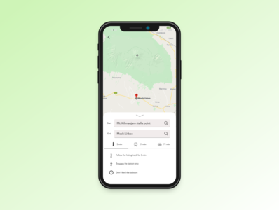 Daily UI practice - 020 Location tracker