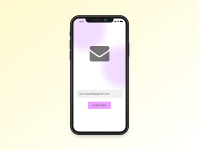 Daily UI practice - 026 Subscribe