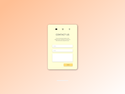 Daily UI practice - 028 Contact us