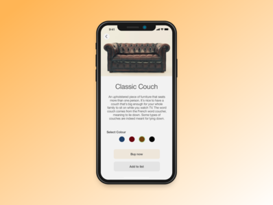 Daily UI practice 033 - Customise product