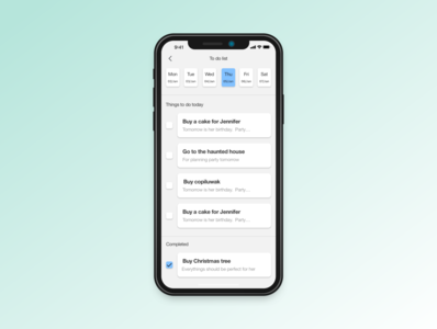 Daily UI practice - 042 Todo list