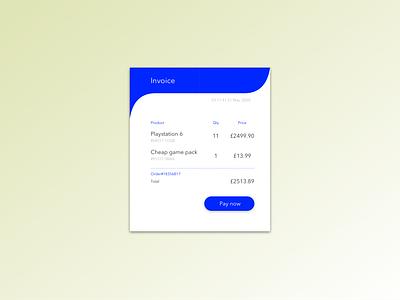 Daily UI practice - 046 Invoice practice design user interface ui dailyui dailyui046