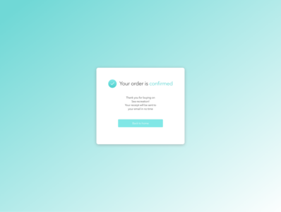 Daily UI practice - 054 Confirmation
