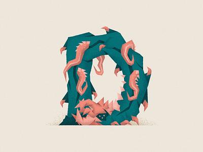 Monstography - D 36daysoftype typography typeface type illustrator vector minimal design illustration character