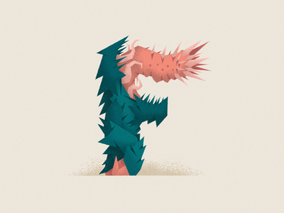 Monstography - F monster illustrator cc 36daysoftype vector character minimal illustration typography typeface type