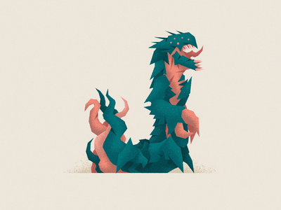 Monstography - J illustrator monster minimal mi vector texture typography typeface type illustration character